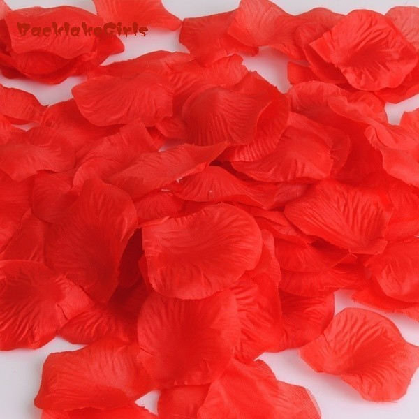 1000PC Silk Artificial Decorative Flower Rose Petals Wedding Party Decorations