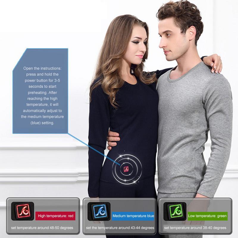 Chauffage électrique sous-vêtement thermique Blouse chauffante USB chauffage Intelligent contrôle de température chemise de fond