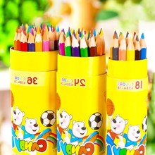NEW 12/18/24 student bear painting 638A barrel pencil lead color pencils school stationery Affordable