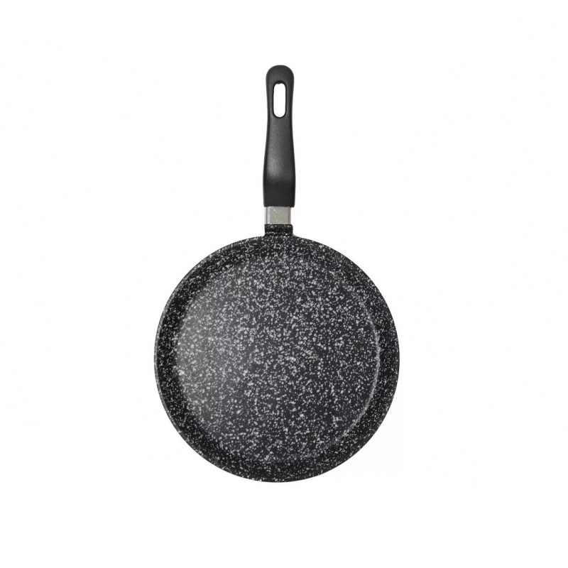 Сковорода блинная VARI, PIETRA, 24 см, черный гранит