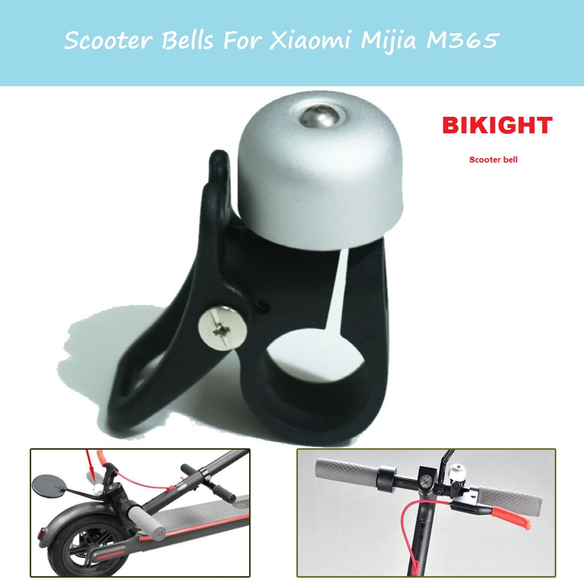 Electric Scooter Bell With Folding Hook Kits Speaker Ring Bell for Xiaomi M365