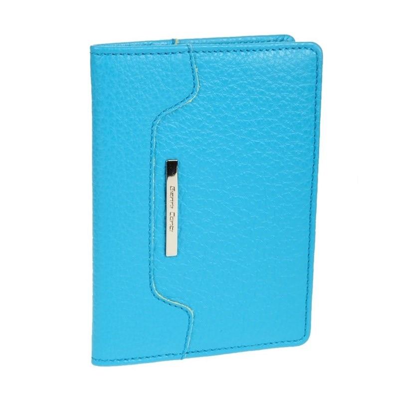 Passport cover Gianni Conti 1717455 turquoise цена 2017