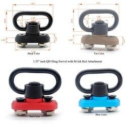 TriRock 4 kolory nowy styl 1.25 ''cal QD obrotowe z M-lok mocowanie szyny adapter do montażu Kit_Black/ czerwony/Tan/niebieski kolor