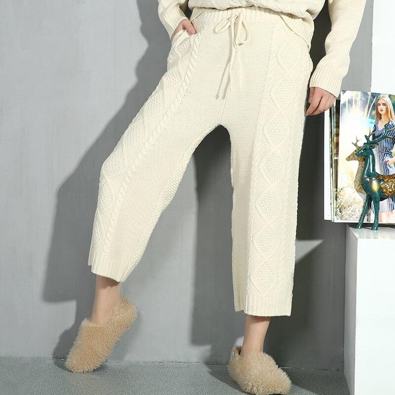 Femmes Lâche Beige À En Costume Manches Col Noir D'été Pantalon Printemps Longues Rond deat Bas Large 2019 Nouveau De Marée Deux Pièces Mode YnOBqx4vU