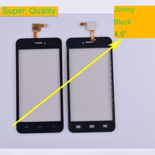 10Pcs/lot For Wiko Jimmy Touch Screen Panel Sensor Digitizer Front Outer Glass Touchscreen Jimmy Touch Panel Black Replacement 10pcs lot new replacement touch screen touch panel digitizer sensor for 10 1 inch chuwi hi10 cw1515 tablet hsctp 747 10 1 v0