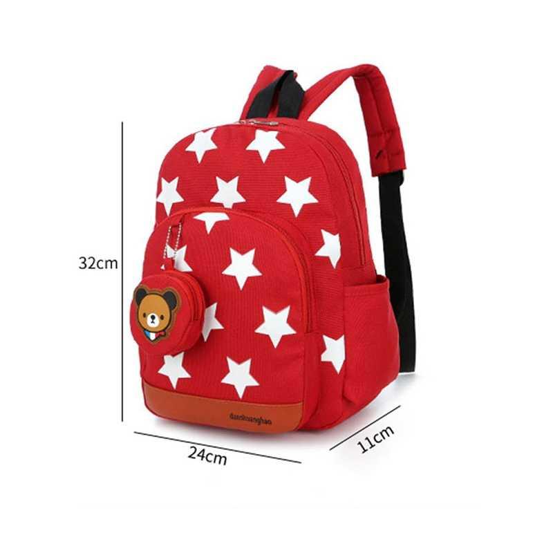 Gwiazdy drukowanie nylonowe plecaki dla dzieci dzieci przedszkole szkolne torby plecaki dla niemowląt chłopcy dziewczęta przedszkole maluch uroczy plecak