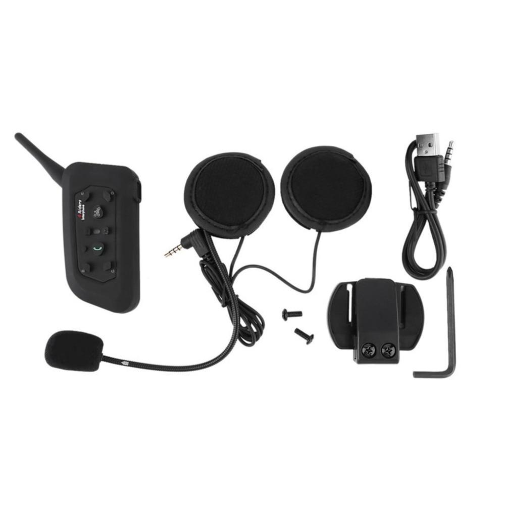 Hottest 3.5mm BT Bluetooth Motorcycle Helmet Interphone Headset Headphone 6 Riders 1200M Practical Inter Communicate Interphone