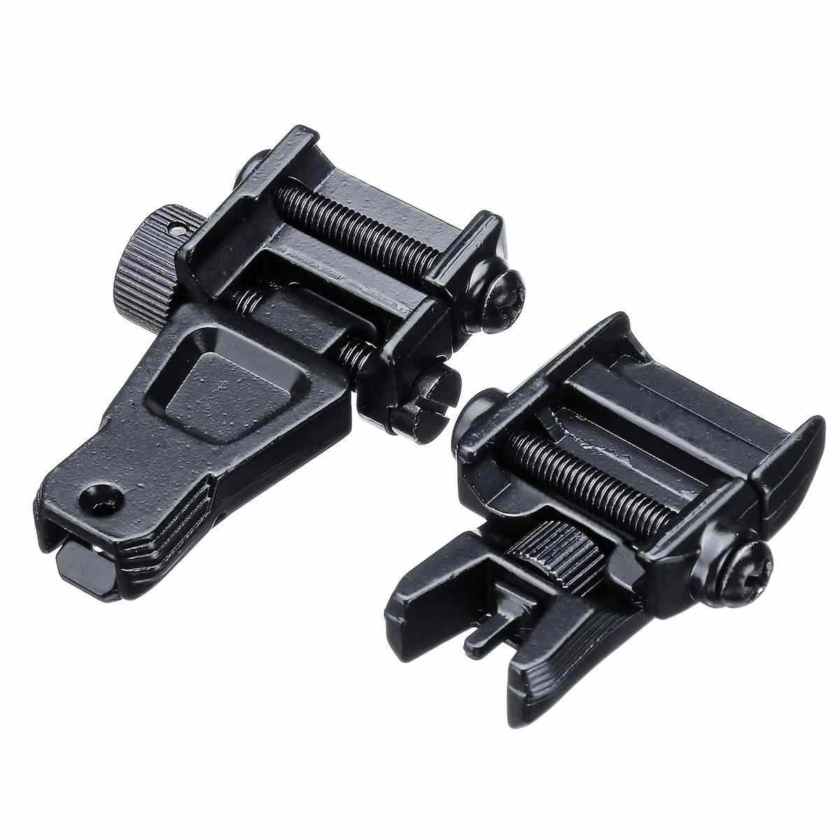 2pcs Flip up Front & Rear Iron Sight Set for Jinming Gen9 Gen8 M4 SCAR  Metal Diamond Aperture Toy Gu ns Iron Sights Set