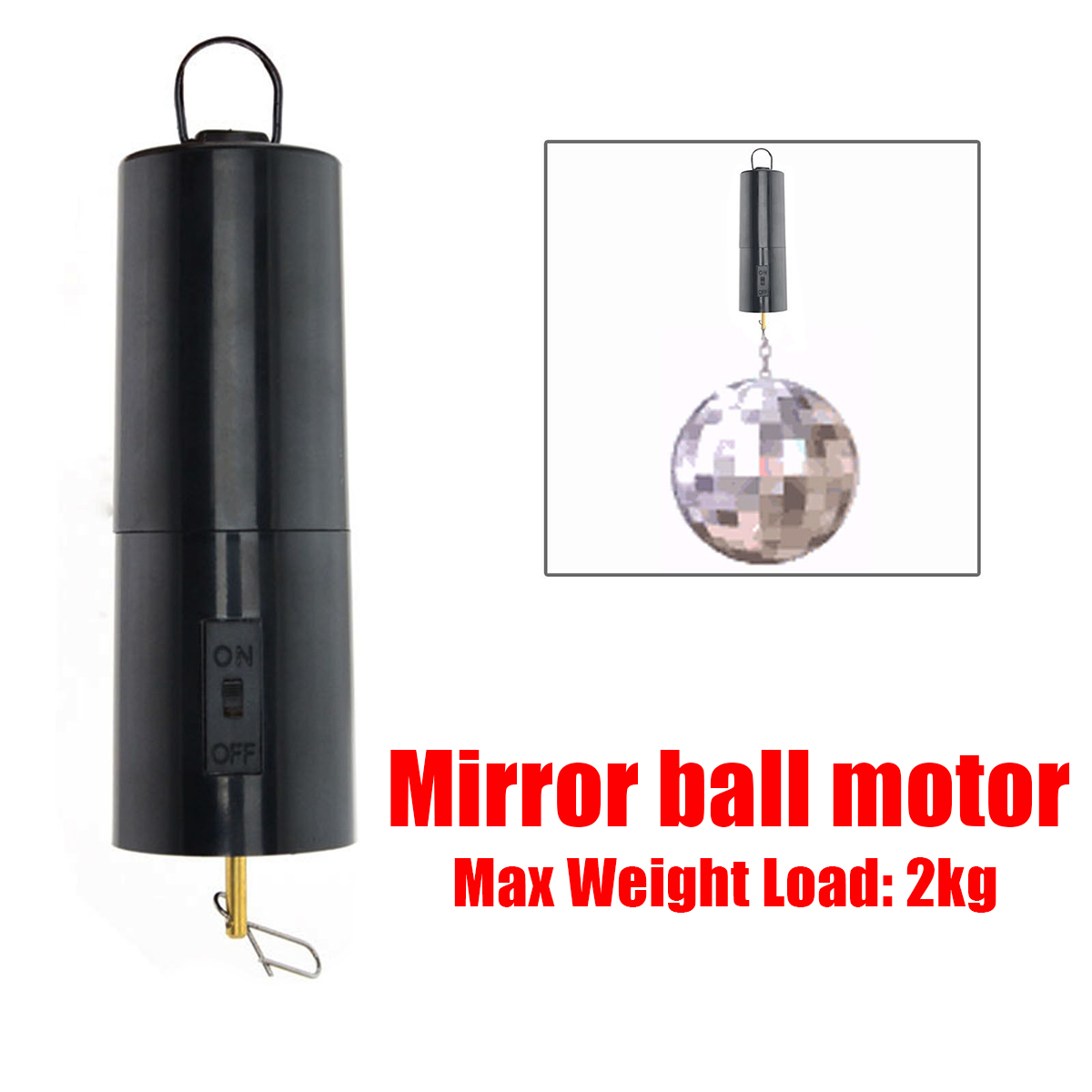 14*4*4cm Load Bearing 2kg Black Mirror Ball Motor Spin Battery Operated Rotating Turning Motors For Disco Party Wedding