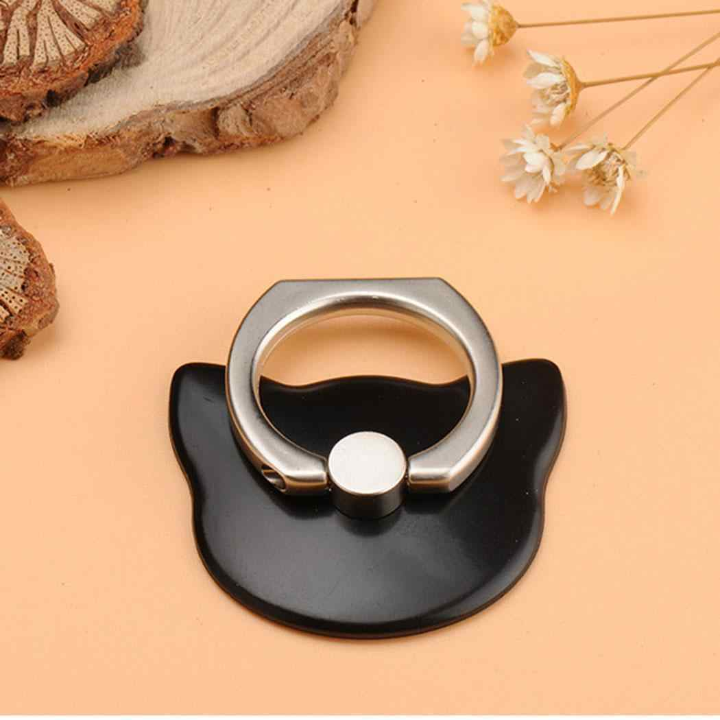 0f131565b65 Cat Face Shape 360 Mobile Phone Finger Ring Stand Holder with Kickstand 2  05cm 0 81