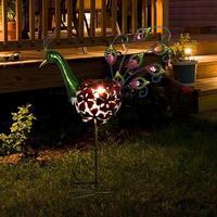Solar LED Peafowl Light Warm White Outdoor Retro Garden Lawn Landscape Lamp