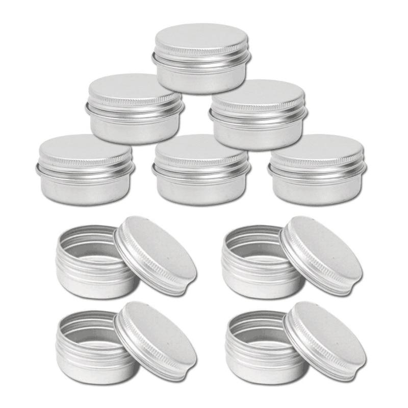 10 x 100ml Aluminium Tin Large Make up Candle Pots 100ml Cap