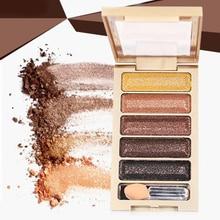 5 Colors Shimmer Eyeshadow Palette Long lasting Makeup Palette Cosmetic waterproof Glitter Eye Shadow Matte Set все цены