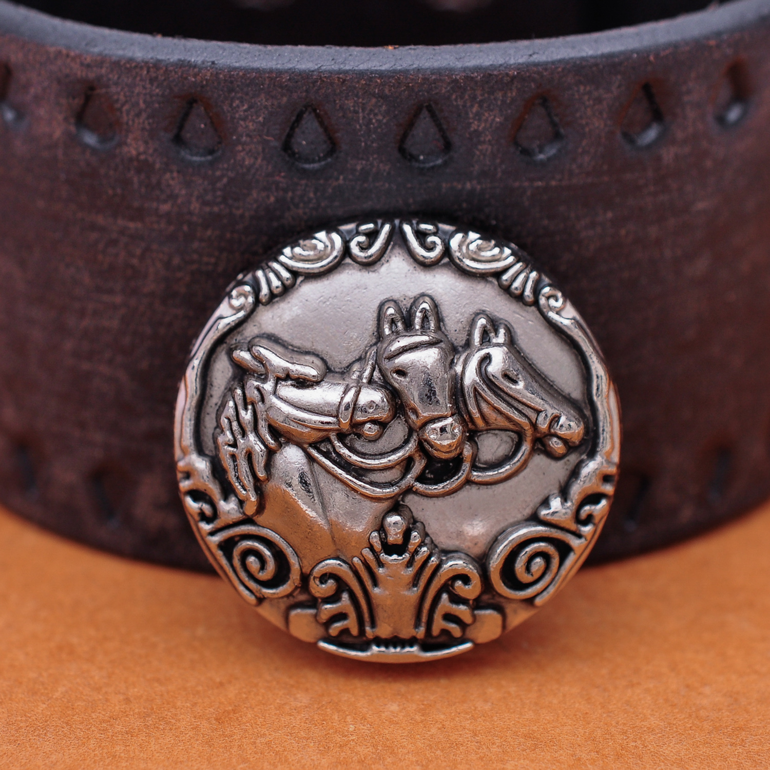 """WESTERN HORSE SADDLE HEADSTALL BRIDLE ANTIQUE ENGRAVED CART BUCKLE fit/'s 3//4/"""""""