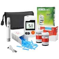 Blood Glucose Meter Diabetic Sugar Test Monitors + 50X Strips + 50X Lancets Set Household Health Care Monitors Instruments