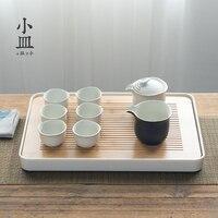 Маленькое блюдо чай лоток бамбука сделано Кунг фу набор японский современный простой Таблица пластины для хранения воды teaboard