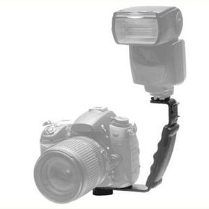 Image 2 - L בצורת זווית 2 נעל פלאש סוגר DV מגש כפולה חמה נעל עבור DSLR מצלמה