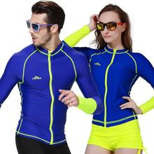 Men And Women Electric Blue Lovers Swimsuit Fission Zipper Jellyfish Snorkel Prevented UV Surfing Diving  Snorkeling цена в Москве и Питере