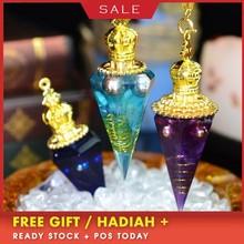 AURA REIKI Astrology Orgonite Spirit Pendulum Pendant Elf Necklace Divination SRT Crystal Lucky Love Sweater Chain Wicca Gift