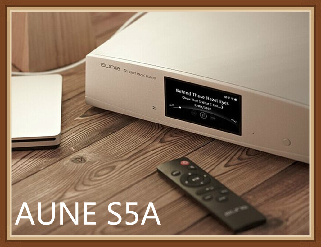 Aune S5A DSD/FLAC/APE Digital Turntable WiFi Network HiFi Audiophile DLNA FPGA Music Player With RCA NAS Decoding Output DAC APP
