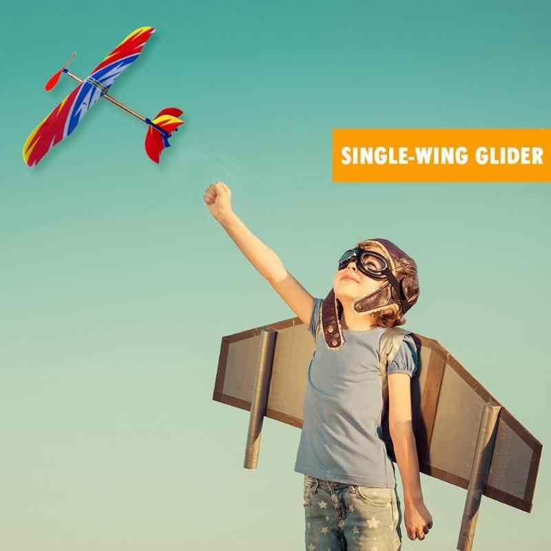 Elastik lastik bant plastik DIY uçak modeli yapı kitleri eğitici oyuncak
