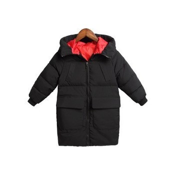 Kids Coats Casual Solid Color Thick Down Jackets For Boys Girls Winter Snow Wear 3 4 5 6 7 8 9 Y Baby Hooded Long Outerwear Coat