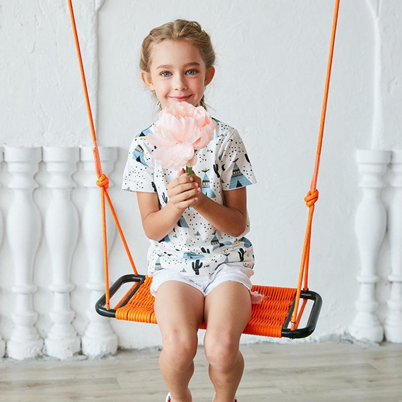 Balançoire pour enfants intérieur et extérieur corde carrée Net balançoire jouets corde net siège bébé chaise balançoire