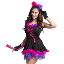 Sexy Cat Woman Costume Cosplay For Adult Halloween Women Cat Dress Costumes Carnival Party Performance Suit women s fashionable sexy cat style cosplay sleep dress set black