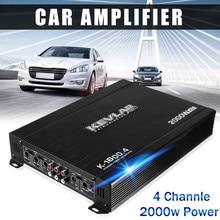 2000W 4 канальный автомобильный усилитель аудио 12dB высокое Мощность Автомобильные усилители стерео усилитель Авто Аудио Мощность усилитель