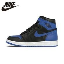 Nike официальный Air Jordan 1 Og Мужская баскетбольная обувь Ретро Королевский Aj1 дышащие противоскользящие спортивные кроссовки 555088