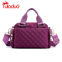 цены Fashion Women Messenger Bag Handbag Waterproof Nylon Shoulder Bag Female Crossbody Bags For Women Casual Tote bolsa feminina
