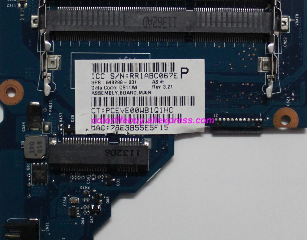 Image 3 - Genuine 649288 001 6050A2412801 MB A02 A60M UMA Laptop Motherboard Mainboard for HP Pavilion G6 G6 1000 Series NoteBook PC-in Laptop Motherboard from Computer & Office
