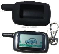 A9 2-way LCD Afstandsbediening Sleutelhanger + A9 Siliconen Case Voor Twee Weg Auto Alarm Systeem Twage Starline a9 sleutelhanger Fob