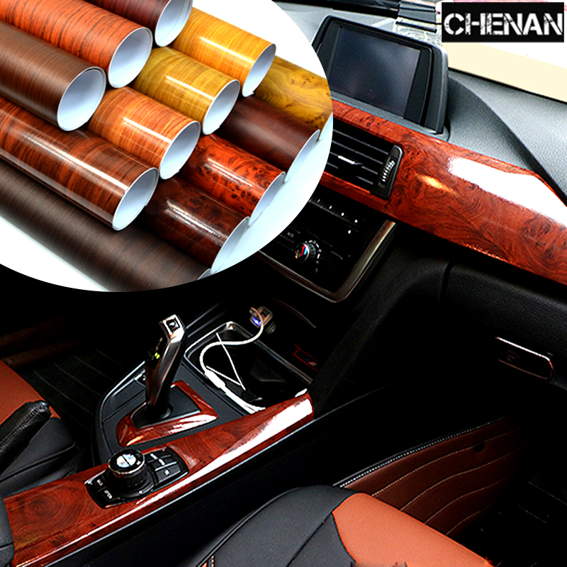 30cm*100cm Glossy Bird Eyes Wood Grain PVC Waterproof Vinyl Film Car Stiker Body Protection Film Decal DIY Car-Styling