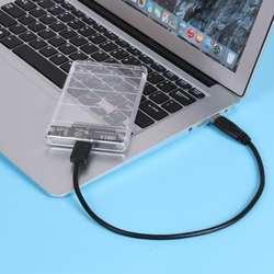 2,5 дюймов Duble USB 3,0 и USB 3,1 тип-c SATA HD Box SSD HDD жесткий диск Внешний корпус HDD прозрачный чехол инструмент Бесплатная