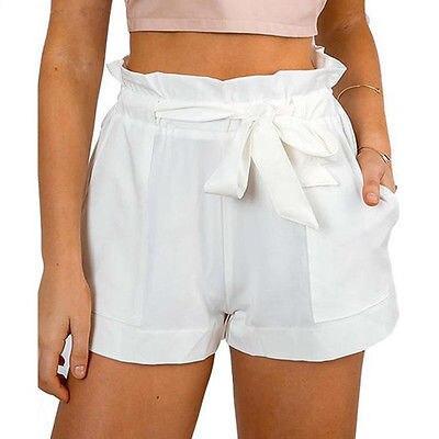 2019 Women New Style Fashion Hot Fashion Women Lady Sexy Summer Casual Shorts High Waist Short Beach Bow Shorts