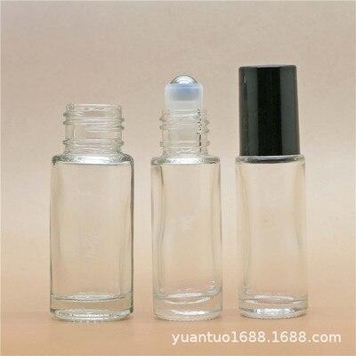 300 шт. толстые многоразовые 5 мл 1/6 унций мини рулон на парфюмерные стеклянные бутылочки для ароматов эфирное масло стальной металлический роликовый шар Новинка
