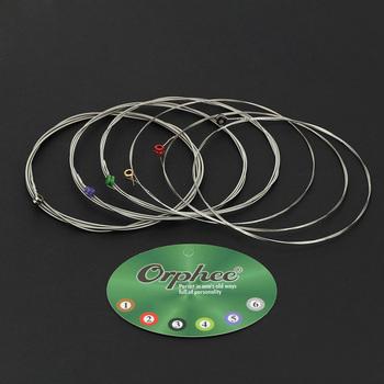 Orphee RX15 6 sztuk zestaw struna gitarowa elektryczna ( 009- 042) stop niklu Super lekkie napięcie sześciokątne stalowe struny gitarowe struna gitarowa s tanie i dobre opinie CN (pochodzenie) Hexagonal carbon steel amp Nickel alloy
