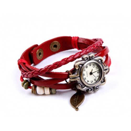 Веганские кожаные часы Bohemian наматывающийся очаровательный браслет - 11.11_Double