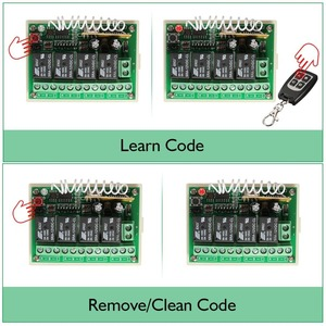 Image 3 - Wireless Remote Control RF Switch 433mhz DC 12V 4CH 4 Channel Wireless Remote Control Switch Relay Receiver Module Transmitter