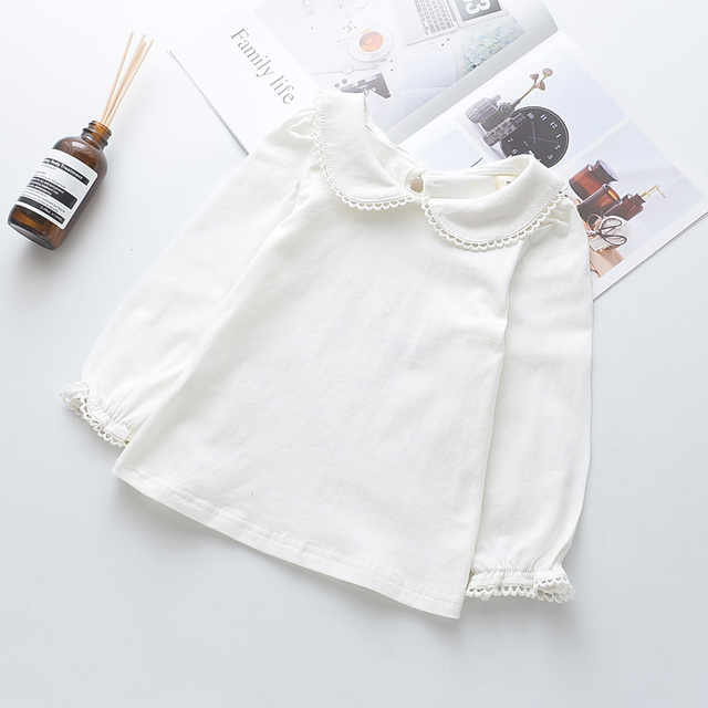 026eeda45087f US $51.5 |Aliexpress.com : Buy Wholesale Kids Girl Spring Autumn Clothing  Bulk By Lot Toddler Girl Basic White Blouses Long Sleeve Kids Lace Top ...