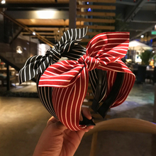Headband Korean version of the simple hairpin fabric striped bow headband Japanese and headdress