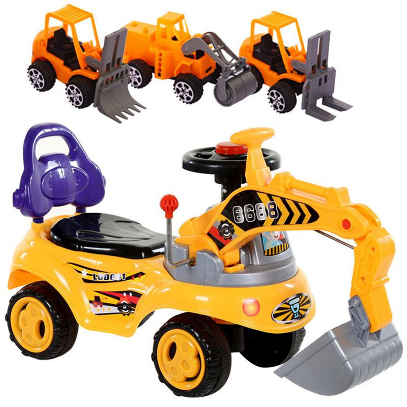 Childrens Riding Toy Car  Excavator Toy With Music Engineering Car Model Childrens Riding Toy Car Excavator Twist Car ToyChildrens Riding Toy Car  Excavator Toy With Music Engineering Car Model Childrens Riding Toy Car Excavator Twist Car Toy