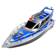 1:20 4CH RC Boat Toys Remote Control Police Boat