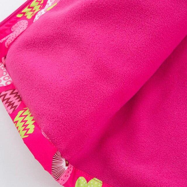 Jacket For Girls 2020 Spring Children's Flower Fleece Clothes Girls Coat Windbreaker Outerwear Kids Polar Fleece Windproof 3-12T 5