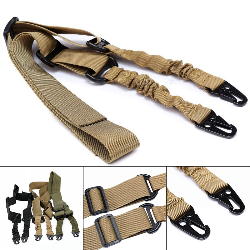 Image 5 - Tactical 2 Point Bungee Rifle Gun Sling Strap 1.4m Airsoft Military Hunting System Universal Strap Heavy Duty-in Hunting Gun Accessories from Sports & Entertainment