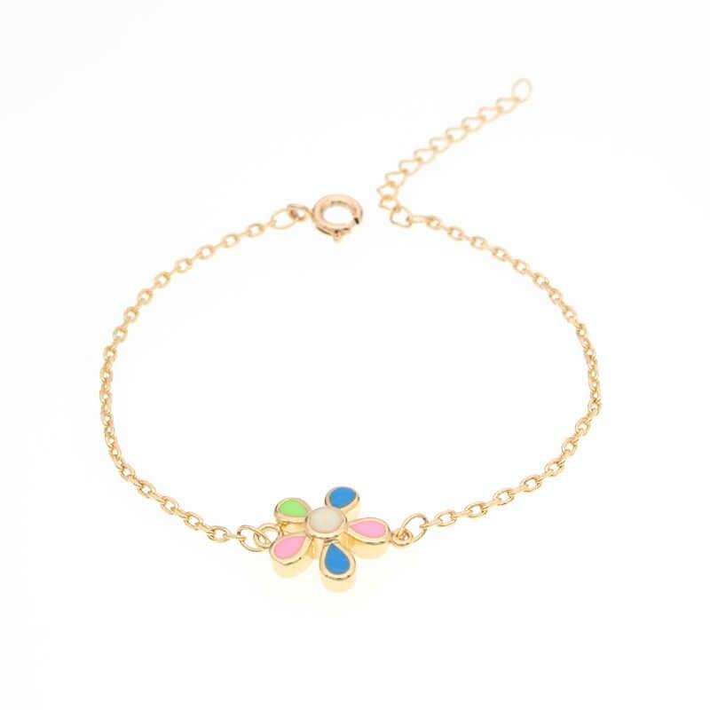 0d81fccf3feb Baby Bracelets Gold Pulsera Bebe Kids Jewelry Baptism Anklet Babygirl  Bracelete Nina Armband Bracciali Bambino Bileklik