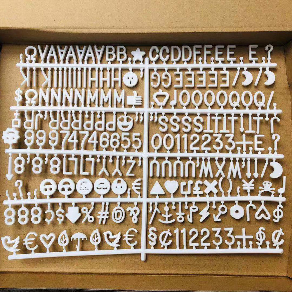 INS Wooden Frame Decoration Crafts Felt Letter Board Changeable Symbol Numbers Office Decorative Board Characters Message Boards in Decorative Boards from Home Garden