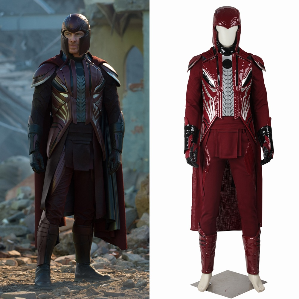 X-Men Apocalypse Erik Lensherr Magneto Cosplay Costume Halloween Outfit