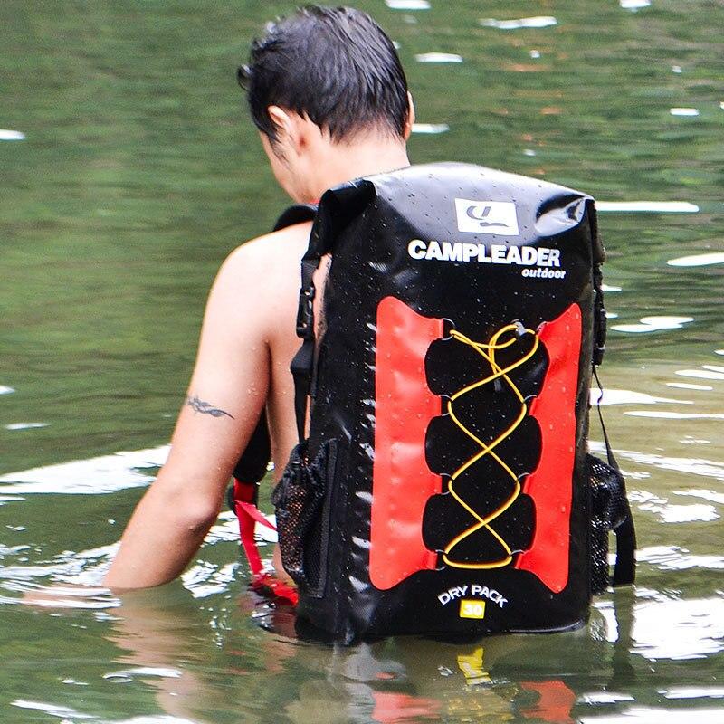 Sac à dos étanche 30L plein air rivière en amont PVC Sac sec bain dérive Sac de plongée en apnée Ski Camping Pack Airbag de sauvetage de l'eau